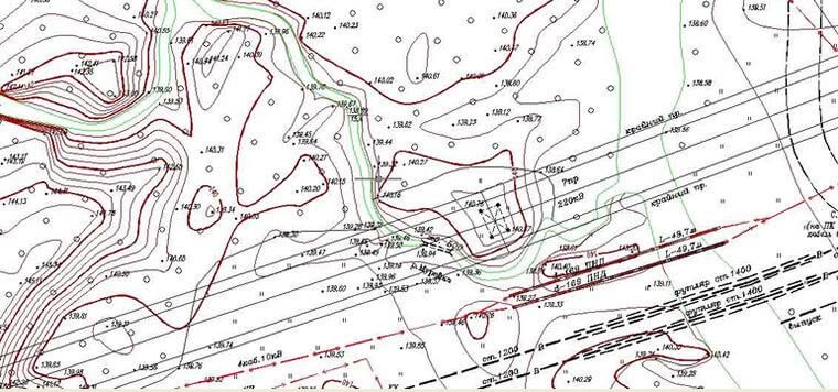 Обновление топографических планов