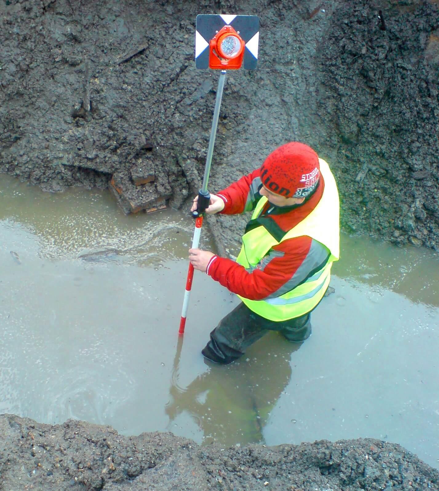 Строительство канализации и топографическая съемка