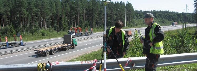 Топографическая съемка для проектирования реконструкции автодорог