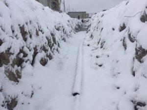 Контрольно-исполнительная съемка кабельных линий зимой